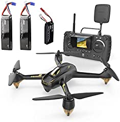 Hubsan H501s x4 Pro 5.8G FPV Cuadricoptero 10 Plus Canales sin Cabeza GPS RTF Dron con cámara de 3M píxeles (Negro)