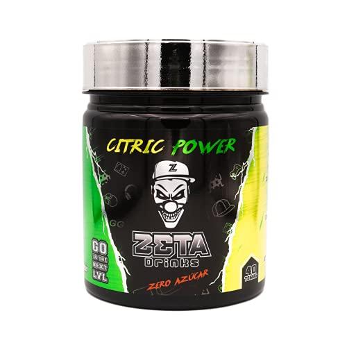 ZETA DRINKS Bebida Energética para gamers en polvo   TUBO CITRIC POWER   Energía para Esports Y Creadores 400g   40 Raciones