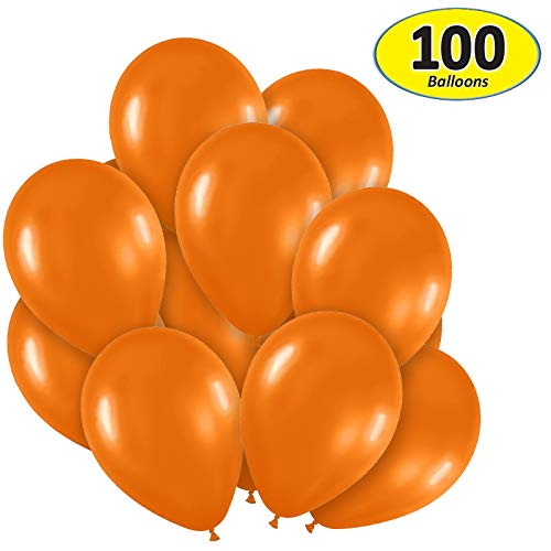 Garage Sale Pup Pack of 100, Bright Orange Color 5 Decorator Latex Balloons, Made in USA!
