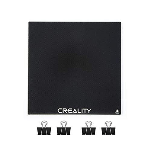 Cama de vidrio Creality Ender 3, plataforma de impresora 3D mejorada, 235x235x4 mm