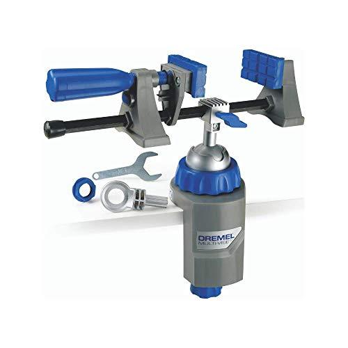 Dremel 2500 Multi Vise - Multi Schraubstock (mit Abnehmbare Soft-Spannbacken und Werkzeugständer-Adapter zum Halten von Werkzeugen)