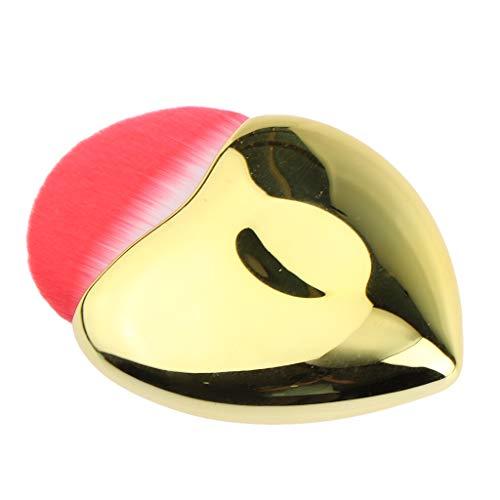 SM SunniMix Brosses Cosmétiques De Blush Cosmétique De Maquillage De Polissage De Mélange Professionnel Synthétique - Or