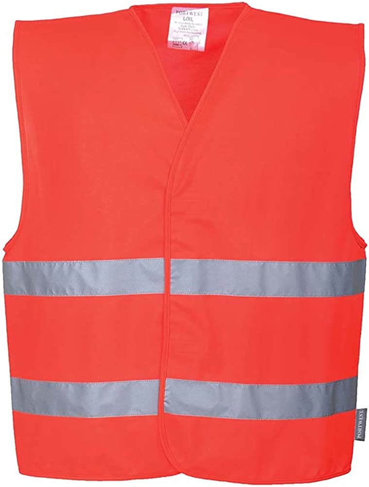 Portwest Workwear Mens Hi-Vis 2 Band Vest