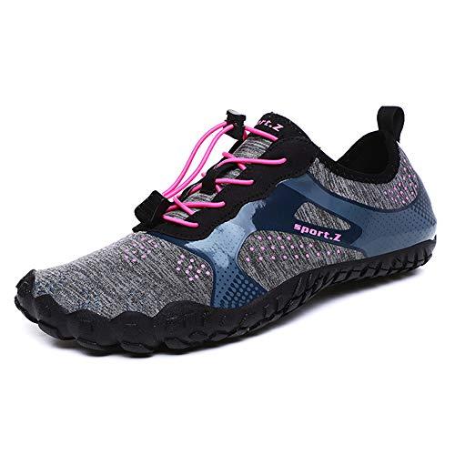 Yvonnelee Zapatillas de baño para hombre, zapatos de natación antideslizantes, zapatos de agua para mujer, zapatos de playa, zapatos de surf, zapatos descalzos para deportes acuáticos 86
