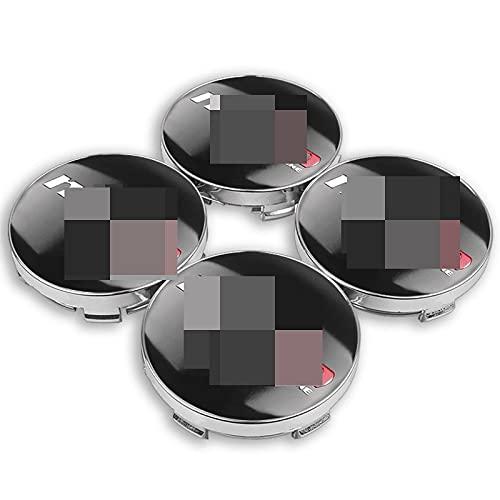 4 tapacubos de 56/60 mm con logo de Nismo para el centro de la rueda del coche, emblema de coche, compatible con Nissan Juke Tiida Teana GTR 350Z 370Z (color : pegatina)