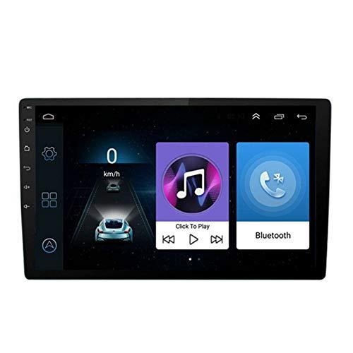 Keshangda Unidad principal de navegación GPS de 10,1 pulgadas con doble DIN para coche Android 10.1 con Bluetooth, cámara de copia de...