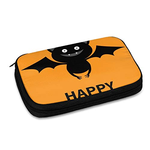 Electronics Organizer Happy Halloween Cute Bat Flying Silhouette Icon Jelly Comb Electronic Accessories Cable Organizer Bag Travel Cable Storage Bag for Cables, Laptop Charger, Tablet (Up to 9.4'')