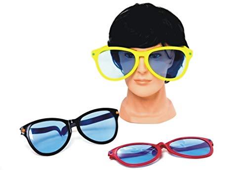 jameitop®XXL Riesen Sonnenbrille 2 Stück Clown Brille Nerd Big Mega Groß Party Kostüm