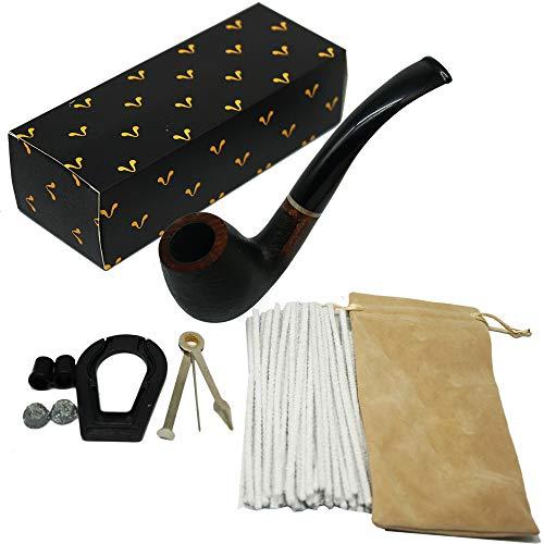 KOKAKA pipa de tabaco de madera, Premium handcrafted Briar madera tabaco fumar pipa madera poco doblado, regalo de caballero perfecto de un vintage de madera fumar tuberías (edición especial) óxido