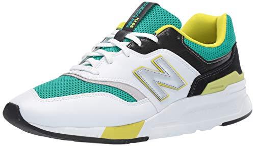New Balance Herren Cm997hv1 Sneaker, Grün (Green/White), 47 EU