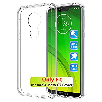 GSDCB Case for Motorola Moto G7 Power Case 2019 Moto G7 Supra Case Ultra Thin Shockproof Phone Protective Case with Hard PC Back Cover Hybrid Soft TPU Edge Slim Fit Design for Women Men Clear