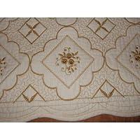 刺繍キルト マルチカバー 55X170cm