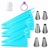 24pcs Reusable Piping Bags and Tips Sets, Silicone Pastry Bags Cream...