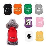 Camicie per cani personalizzate, abbigliamento personalizzato per animali con il tuo nome/foto/logo per cani di piccola taglia media cucciolo gatti gattino