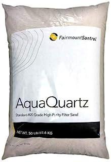 Best FairmountSantrol AquaQuartz-50 Pool Filter 20-Grade Silica Sand 50 Pounds, White Review