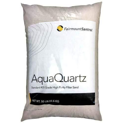FairmountSantrol AquaQuartz-50 Pool Filter 20-Grade Silica Sand 50 Pounds, White
