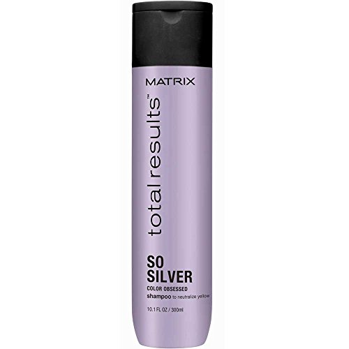 Matrix - Champú So Silver Total Results, Neutralizador de Tonos Amarillos para Cabellos Rubios y Plateados - 300 ml