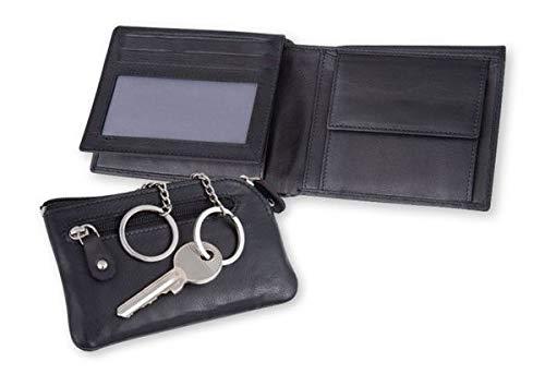 WS Design Geldbörse + Schlüsseletui im Set, Ziegenleder