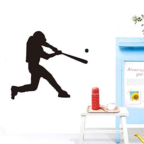 WUQATE Mann Spielen Baseball Sport Decals Vinyl Wandaufkleber Für Golf Zimmer Moderne Wohnkultur Tapete Wohnzimmer Abnehmbare wasserdichte