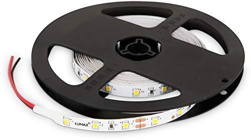 Ruban LED double PCB 12 V à intensité variable - 24 W 1200 lm - SMD 300 x 3528 60SMD/m - IP20 - 8 mm - Blanc chaud (3000 K)
