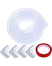 Te Fiti 透明 コーナークッション 5M + 4 個 コーナー ガード 赤ちゃん けが防止 かんたん 取り付け 両面テープ付き