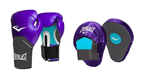 Everlast BXEVAC-BS08 Guantes de Boxeo y Patas de Oso, Mujeres, Gris/Morado, Talla única