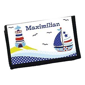MissRompy Segelboot (857) Geldbeutel mit Name Geldbörse Kindergeldbeutel Kindergeldbörse Wunschname