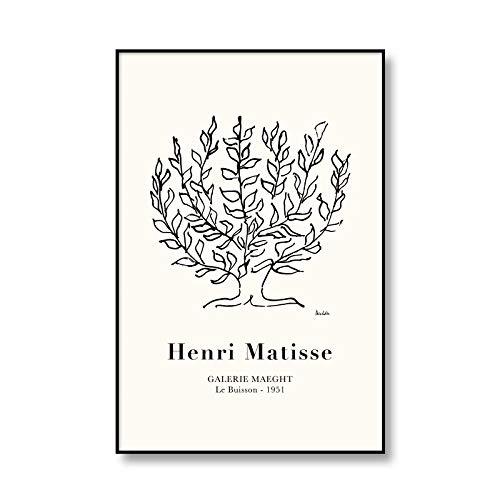 Póster de exposición de Henry Matisse, impresiones de hojas abstractas multicolores, cuadros de arte de pared, pinturas de lienzo sin marco para el hogar A3 70x100cm