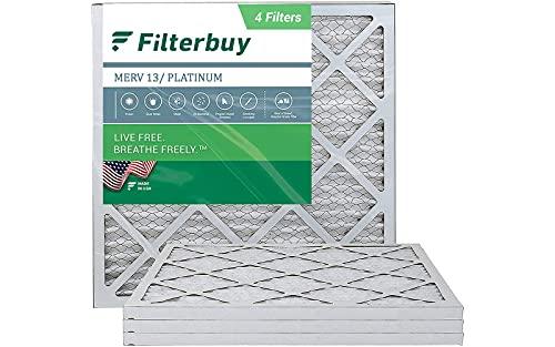 FilterBuy 20x20x1 Air Filter MERV 13, Pleated HVAC...