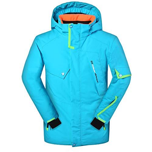Victrax Men's Waterproof Ski Jacket Fleece Windproof Snow Coat Blue XXL