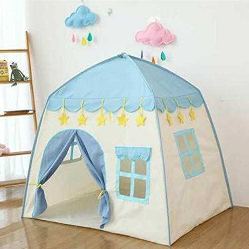 YUANYI Princess Tent Girls Large Pop Up Playhouse Kids Castle Play Tent Juguete para Niños Pequeños para Juegos De Interior Y Exterior,Blue