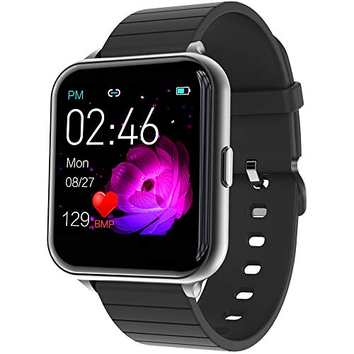 jpantech Smartwatch,Fitness Watch Uhr Voller Touch Screen Fitness Uhr IP68 Wasserdicht Fitness Tracker Sportuhr mit Schrittzähler Pulsuhren Stoppuhr für Damen Herren Smart Watch für iOS Android Handy