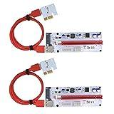 Pci-Eライザー 008S Expr 1 x 4 x 8X 16Xエ、60cm USB 3.0ケーブル、Sata 15ピン - 6 ピン 電力ケーブル(ツーピース)