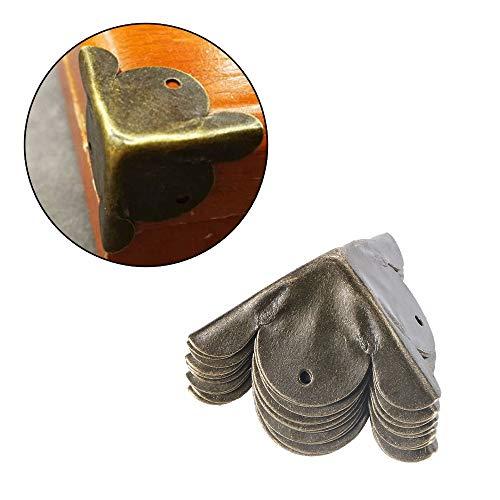 Soporte De Esquina 4 Patas de la Caja Fashion Corner Protector Caja de Madera Piezas Decorativas Antiguo Pierna en Esquina Soporte de Hardware de Muebles pies de Las Esquinas de la Pierna Soporte