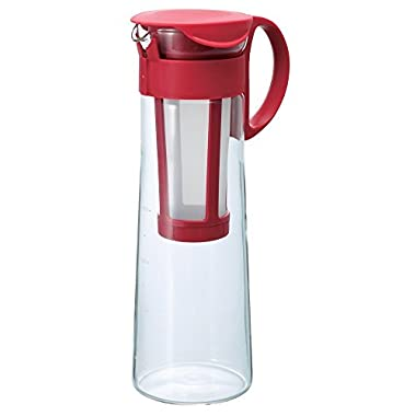 Hario Mizudashi  Cold Brew Coffee Pot, 1000ml, Red