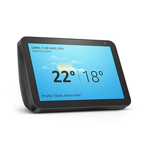 Echo Show 8, reacondicionado certificado, tela de color antracita - Una pantalla inteligente HD de 8 pulgadas con Alexa