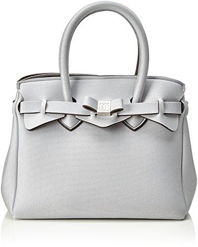 Save My Bag Damen Petite Miss Handtasche, Argento (Filigrana Met), 26x23x13 cm