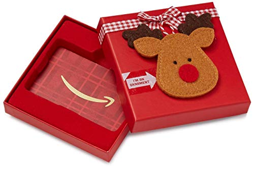 Amazon.co.uk Gift Card in a Reindeer Ornament Box