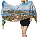 Ver Far North Coast Sardinia Capo Bufanda Ligera para Hombre Bufandas con Flecos para Mujer Bufanda Ligera para Mujer 77'x27 / 196x68cm
