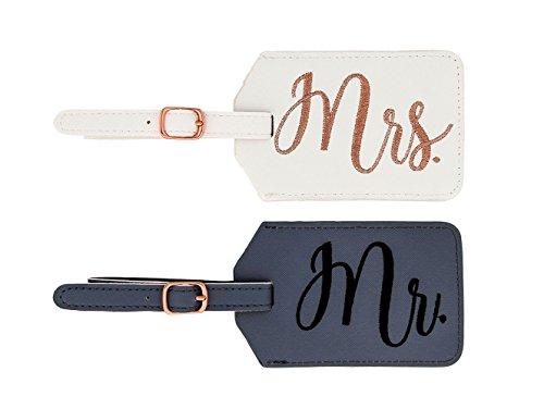 Miamica Women's mrs. Bridal Luggage Tags, Gray & White, M31151-Gray/White