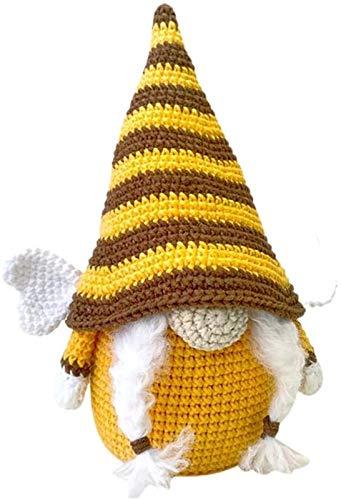 hwljxn Plüschpuppe, handgefertigte Plüschpuppe, Hummel-Dwarf-Puppe Biene Tag Dekoration Plüsch Fachlose Ornamente Geschenk für Kinder Erwachsene (Color : Female)
