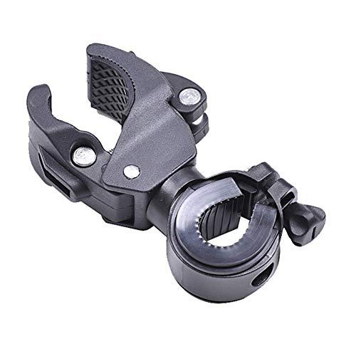 Linterna de la Bicicleta Clip Universal del Soporte para Bicicleta de múltiples Funciones de la lámpara Montar la Abrazadera del Soporte del Ciclo rotativo 360 ??Grados Abrazadera del Clip 1pc Negro