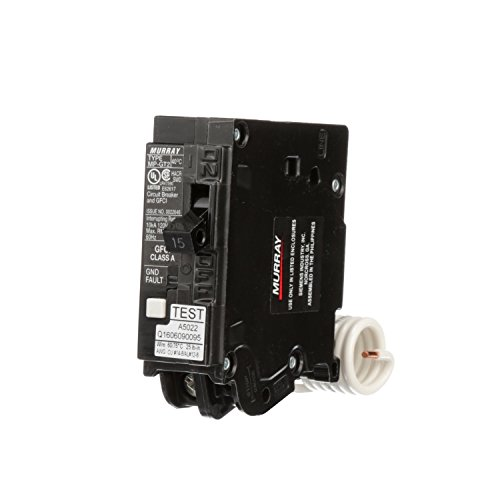 Siemens MP115GFA Murray 15-Amp 1 Pole 120-Volt Ground Fault Circuit Interrupter with Self Test & Lockout Feature