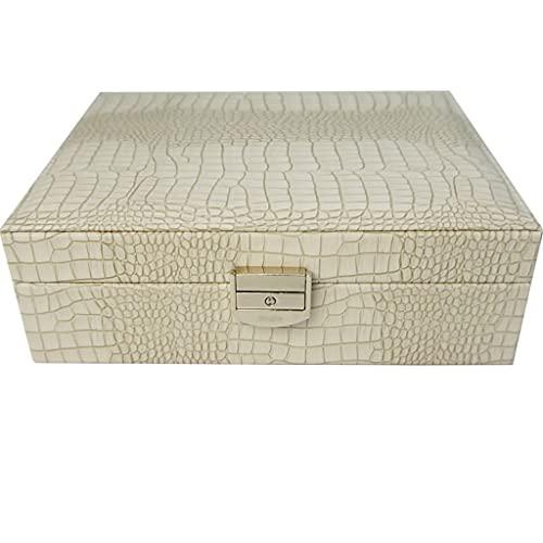 Joyero Caja de joyería con cerradura, caja de almacenamiento de doble capacidad de joyería de doble capacidad para reloj Anillo Pendientes Pulsera de manga contenedor organizador jewlwey ( Color : D )