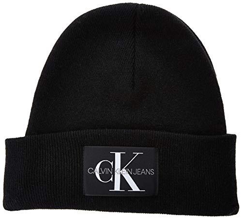 Calvin Klein Herren J Basic Men Knitted Beanie Strickmütze, Schwarz (Black BAE), One Size (Herstellergröße:OS)