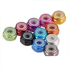 10st m2 m3 m4 m5 geanodiseerd meerkleurig kleurrijke aluminiumlegering nylon borgmoer-M5, lichtblauw