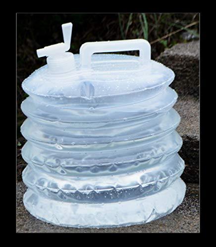 Depósito de agua Emergencia Bidón Plástico Con Grifo Plegable Contenedor De Agua Cámping Portador De Almacenamiento De Agua Por Al Aire Libre Plegable Tanque De Agua Del Coche Bolsa De Bebidas Por Ref