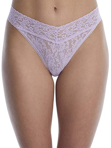 hanky panky, Signature Lace Original Rise Thong, One Size (4-14), cool lavender