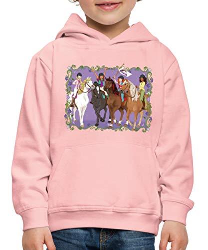 Schleich Horse Club Lisa Sarah Sofia Hannah reiten Kinder Premium Hoodie, 152-164, Kristallrosa