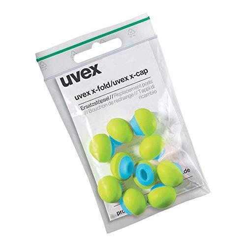 Uvex 2125.351 Bügelgehörschutz-Ersatzstöpsel, 5 Paar, Grau-Blau-Grün, Uni